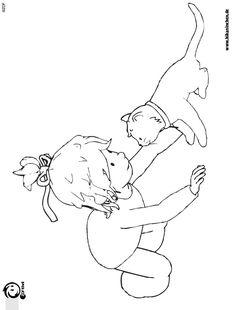 Ausmalbilder für Kinder - Conni katze - Conni coloring pages - Barátnőm Bori kifestő