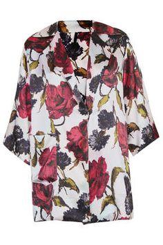 Floral Satin PJ Top by Boutique