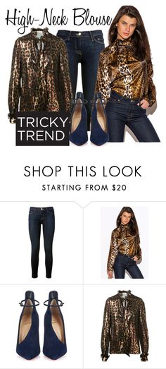 """""""high neck look"""" by senciti on Polyvore featuring Frame Denim, Christian Louboutin, Lanvin, women's clothing, women's fashion, women, female, woman, misses and juniors"""