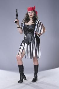 piratess plus size adult costume what a treasure costume includes faux black leather top with - Size 18 Halloween Costumes