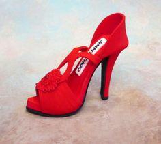 Fondant /gumpaste shoe cake topper. $40.00, via Etsy.