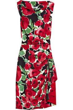 Moschino Cheap and Chic  Floral print crepe dress  NET A PORTER