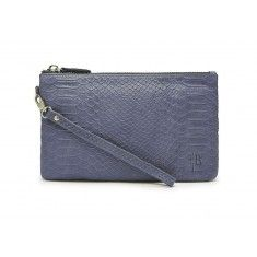 Handbag Butler Mighty Purse Charge on the Go Wristlet. Grey Reptile Leather $109.99