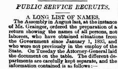South Australia - Public Service Recruits - January to November 1893
