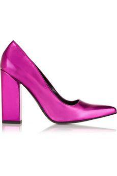 OH! MY! GAWD!  Stella McCartney Metallic faux leather pumps | NET-A-PORTER