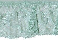 2'' Mint Gathered Lace Trim Lace Shorts, Lace Trim, Fabrics, Mint, Women, Fashion, Tejidos, Moda, Fashion Styles