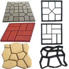 Details about 4 Styles Grip Driveway Paving Mold Patio Concrete Stone Path Walk Maker Walkway – Pavement İdeas Paving Diy, Paving Stone Patio, Driveway Paving, Concrete Paving, Garden Paving, Concrete Stone, Brick Patios, Paving Stones, Stone Walkways