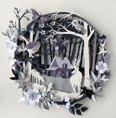 découpages de papier magnifiques Helen Musselwhite :: Chocolat & Gâteau à la crème