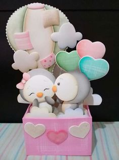 Pingüino💜 Foam Crafts, Diy And Crafts, Crafts For Kids, Arts And Crafts, Baby Shoes Pattern, Balloon Flowers, Exploding Boxes, Disney Mickey Mouse, Paper Dolls