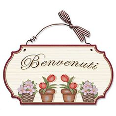Aracne Italy Targhetta style BENVENUTI 23x15 cm