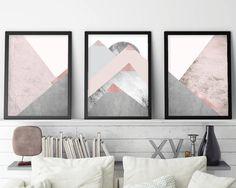 Trending Art Printable Art Set of 3 Prints Mountain Print