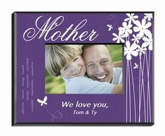 Personalized Mom Blooming Butterfly Picture Frame from #Arttowngifts.com.
