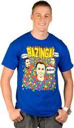 Sheldon Ball Pit Bazinga Shirt  $18.00