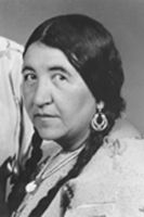 While working with the then Indian Health Service from 1929 to1931, Susie Walking Bear Yellowtail helped to bring modern health care to her own people and to end abuses in the Indian health care system, such as the sterilization of Native American women without their consent. She effectively communicated Native American culture and perspectives to non-Indians throughout the country then as well as throughout her public service career.(1903-1981)
