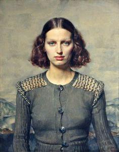 Jeunesse dorée by Gerald Leslie Brockhurst Date painted: 1934 Oil on board, 76.2 x 63.1 cm Collection: National Museums Liverpool
