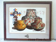 Michael McCullough Watercolor Painting Santa Fe New Mexico Indian Pottery Sherds #Realism
