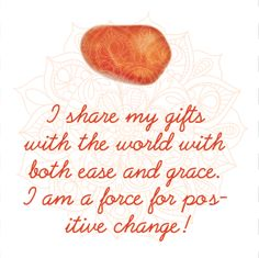 Carnelian Affirmation in our Crystal Affirmations eBook