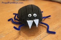 A Sock Spider with a Spider Web Woodworking Craft