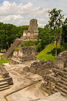 The Acropoli at Tikal, Guatemala. Latin America, South America, Travel Around The World, Around The Worlds, Maya Civilization, Lake Atitlan, Tikal, Archaeological Site, World Traveler