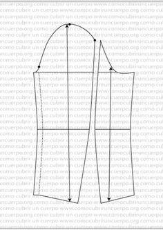 La manga de la americana Vintage Dress Patterns, Coat Patterns, Dress Sewing Patterns, Sewing Collars, Sewing Sleeves, Clothes Crafts, Pattern Cutting, Pattern Drafting, Jacket Pattern