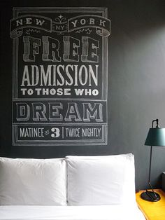 Free Admission to Those Who Dream.