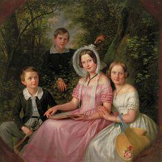 1843, centuri stuff, sons, 19th centuri, daughters, 1840s fashion, 19thcenturi art, 1840s inspir, portrait
