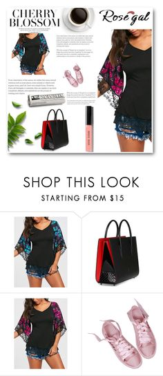 """""""rosegal"""" by melee-879 ❤ liked on Polyvore featuring Christian Louboutin and Bobbi Brown Cosmetics"""