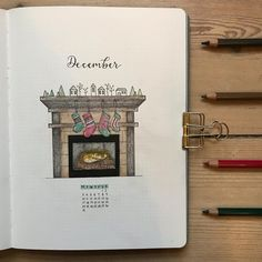Christmas Bullet Journal Ideas Perfect for December - LittleCoffeeFox Here are December Bullet Journal themes to put you in the Christmas spirit! Just read on to find the perfect idea to rock your Christmas Bullet Journal. December Bullet Journal, Bullet Journal Monthly Spread, Bullet Journal Font, Bullet Journal Ideas Pages, Bullet Journal Inspiration, Journal Pages, Bullet Journel, Journal Design, Journal Covers