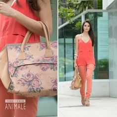 Street Style: look coral vibrante