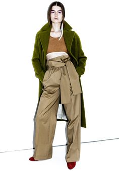 Mossy texture coat at 3.1 Phillip Lim Pre-Fall 2016. #PreFall2016
