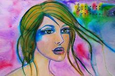 Pray Blue - Watercolor