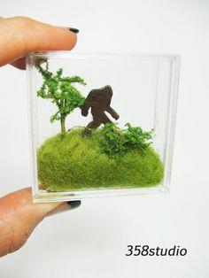 Miniature Terrarium Bigfoot Sasquatch Woodland