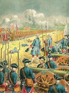 La bataille de Fontenoy | Frederic Theodore Lix (1830-1897, France)