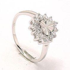 Flot hjerte ring i sølv