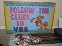 Follow the Clues to VBS Bulletin Board