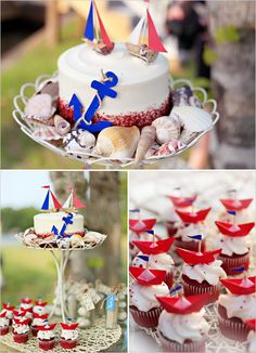 {nautical wedding cake}