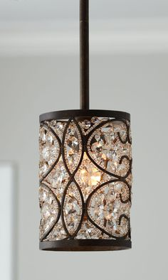 "Horchow ""Crystalline"" Mini Pendant Light"