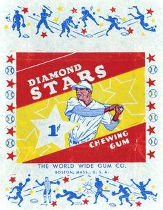 '34-'36 Diamond Stars baseball card wrapper