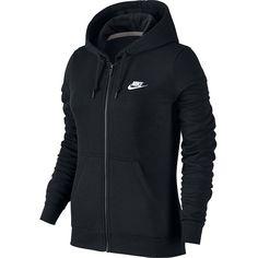 Women's Nike Full-Zip Fleece Hoodie ($54) ❤ liked on Polyvore featuring tops, hoodies, grey, gray hooded sweatshirt, nike hoodie, grey hoodies, grey hooded sweatshirt and full-zip hooded sweatshirt