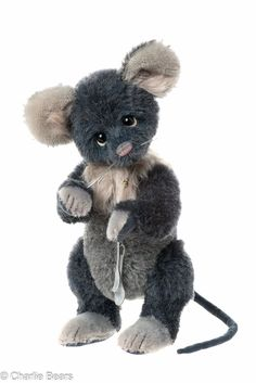 Snax is another unusual member of the 2015 Charlie Bear Collection. Snax stands 22cms and is made from 100% Mohair. Snax a fully jointed hand stitched mouse numbered 117 of 500 worldwide. Snaz is available from http://charlieteddybears.net/product/snax/