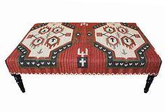 Kieran Kilim Upholstered Ottoman on OneKingsLane.com