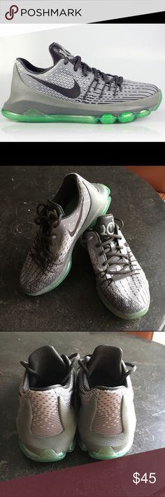Nike KD 8 Basketball Shoes Nike KD 8 in NG Silver/Tumbled Grey/Dark Peeter/Green Glow. Very good condition and very stylish! No box. Nike Shoes Sneakers
