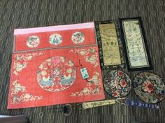 Lot Of Antique Chinese Silk Embroidery
