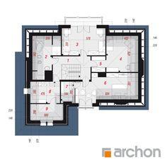 Dom w kalateach 3 Pent House, House Plans, Villa, Floor Plans, House Design, Ideas, American Houses, Blueprints For Homes, Home Layouts