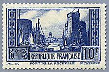 Le port de la Rochelle type II - Timbre de 1929