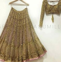 Book ur dress now Completely stitched outfits Customised in all colours like comment share tags For booking ur dress plz dm or whatsapp at 91 7838855066 Lehenga Choli Wedding, Designer Bridal Lehenga, Gold Lehenga, Designer Party Wear Dresses, Indian Designer Outfits, Punjabi Fashion, Indian Fashion, Indian Dresses, Indian Outfits