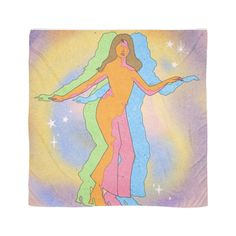 Women Dancing Trippy Indie Scarf by stupid bitvhes designs