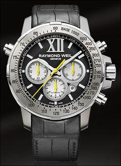 Nabucco Mens Watch - Nabucco Steel and titanium Black dial rubber bracelet RAYMOND WEIL Genève Luxury Watches Raymond Weil, Rubber Bracelets, Expensive Watches, Cool Watches, Male Watches, Black Watches, Stylish Watches, Casual Watches, Men's Watches