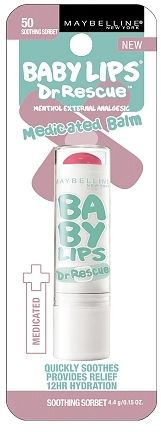 Maybelline Baby Lips Dr. Rescue Medicated Balm Soothing Sorbet http://api.shopstyle.com/action/apiVisitRetailer?id=440263709&pid=uid561-2364169-68