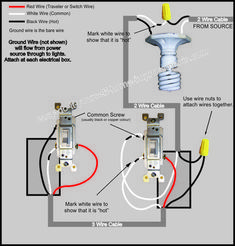 Wiring Diagram For 3 Way Switch With 4 Lights Three Way Switch 3 Way Switch Wiring Wire Switch